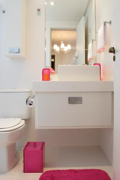 Ô lá em casa Banheiro -> Banheiro Pequeno Decorado Rosa