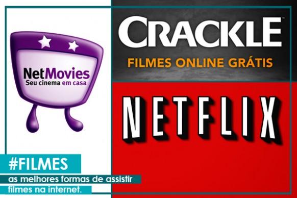 Montagem Netflix, NetMovies e Crackle